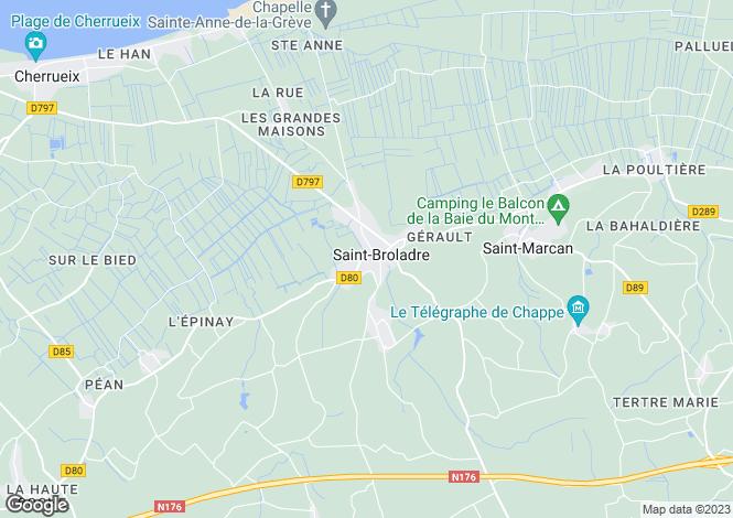 Map for Brittany, Ille-et-Vilaine, St-Broladre
