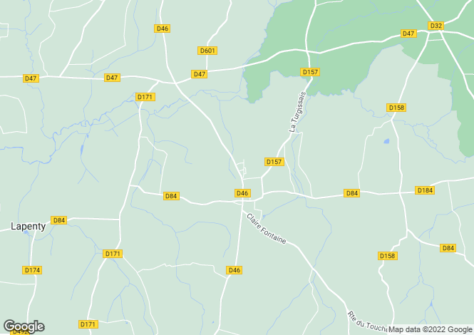 Map for Notre Dame Du Touchet, Basse-Normandie, 50140, France
