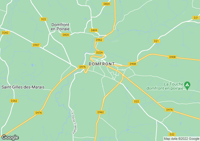 Map for Domfront, Orne