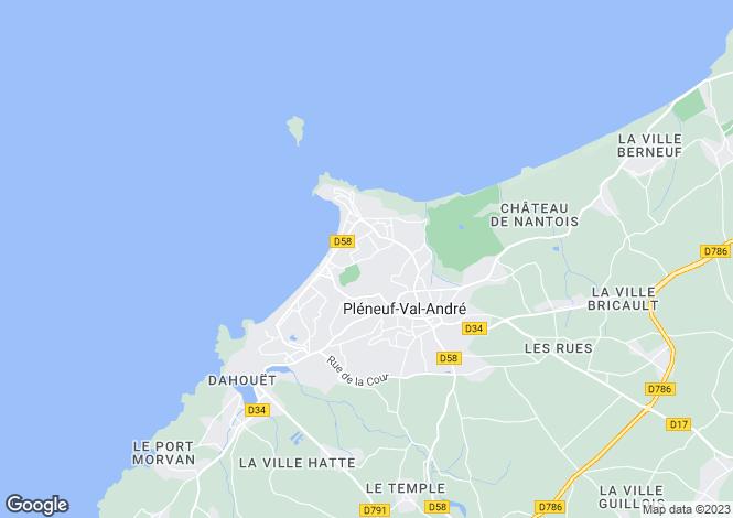 Map for PLENEUF VAL ANDRE, Bretagne