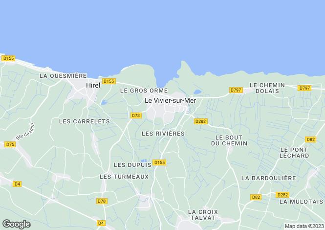 Map for LE VIVIER SUR MER, Bretagne