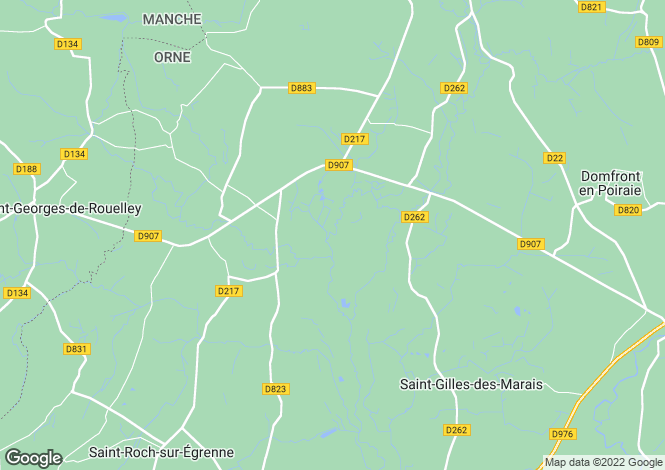 Map for Normandy, Orne, Rouellé