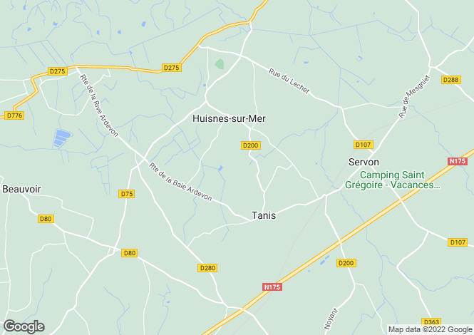 Map for Normandy, Manche, Huisnes-sur-Mer