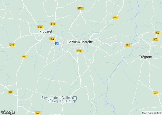 Map for le-vieux-marche, Côtes-d'Armor, France