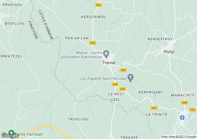 Map for Brittany, Côtes-d'Armor, Trémel