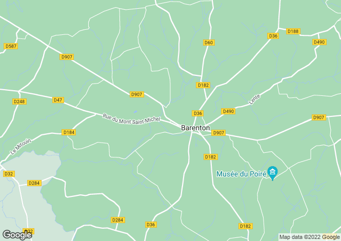 Map for Barenton, Manche, 50720, France