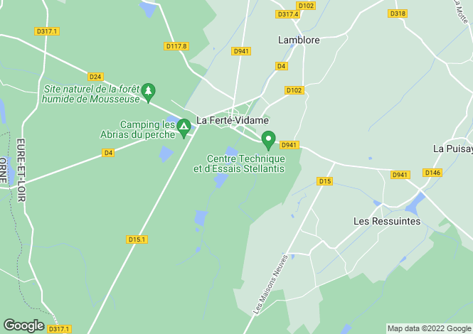Map for la-ferte-vidame, Eure-et-Loir, France