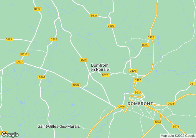 Map for domfront, Orne, France