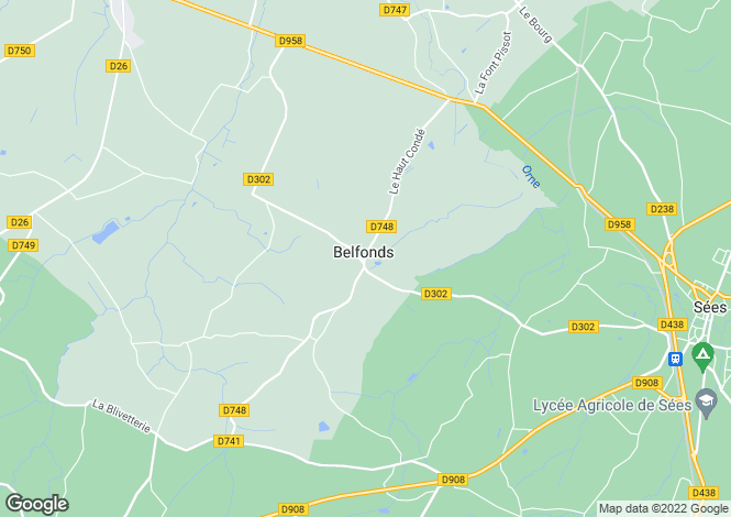 Map for belfonds, Orne, France
