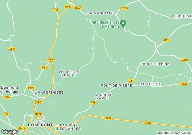 Map for Saint-Bomer-Les-Forges, Basse-Normandie, 61700, France