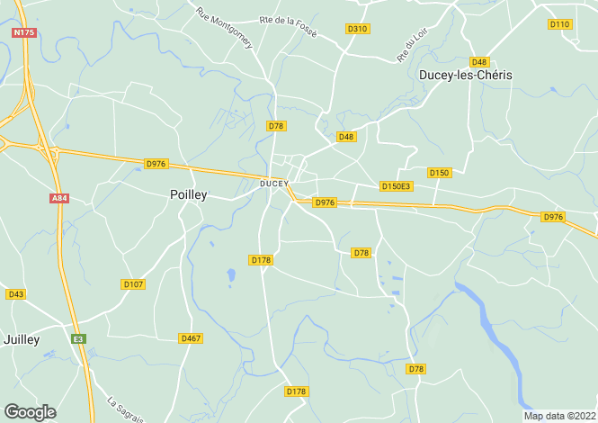 Map for Normandy, Manche, Ducey