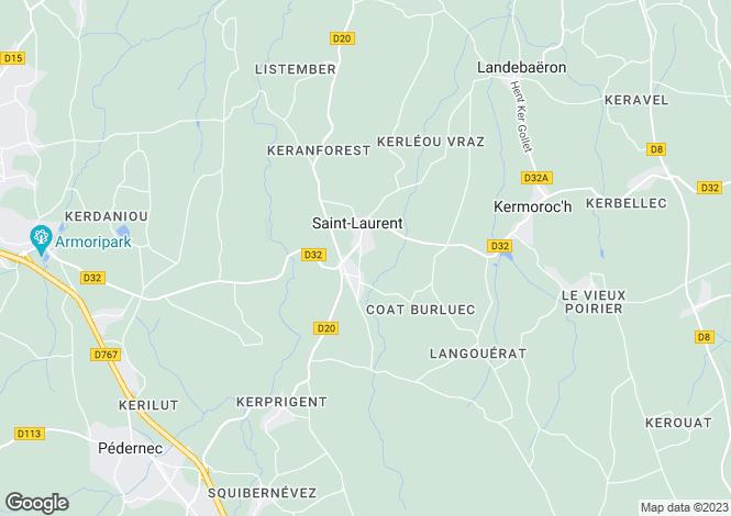 Map for Brittany, Côtes-d'Armor, St-Laurent