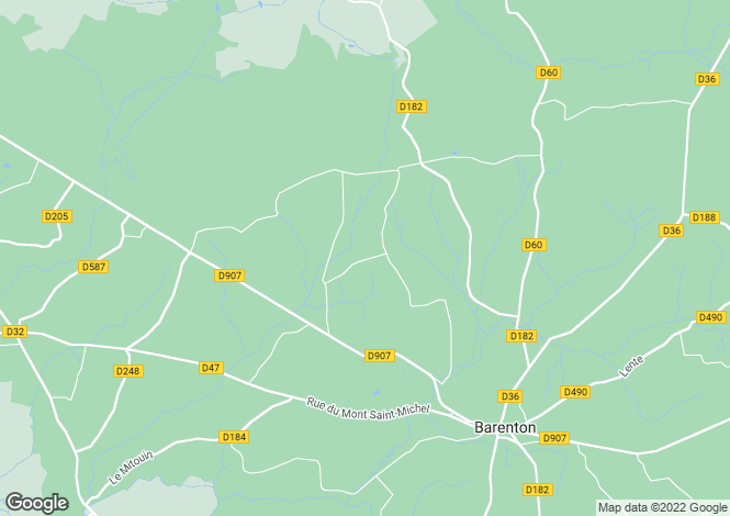 Map for Barenton, Basse-Normandie, 50720, France