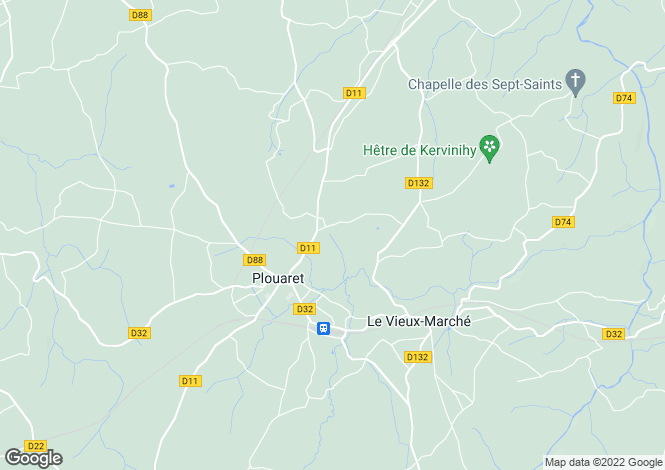Map for plouaret, Côtes-d'Armor, France
