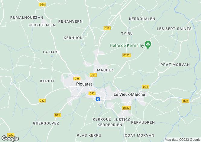 Map for PLOUARET, Bretagne