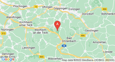 map of Kornberg (Germany)