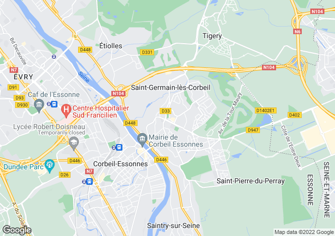 Map for Corbeil-Essonnes, Essonne, Paris-Isle of France