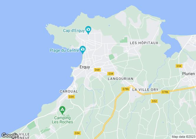 Map for erquy, Côtes-d'Armor, France