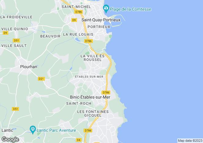 Map for ETABLES SUR MER,