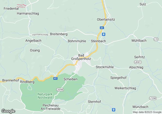 Map for Niederösterreich, Gmünd, Bad Großpertholz, Austria