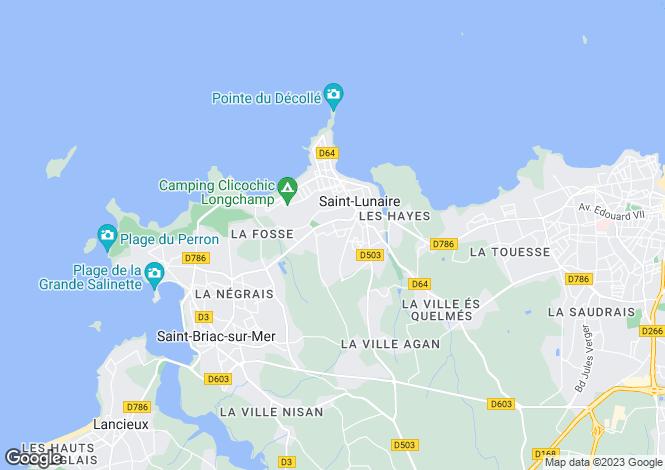 Map for SAINT LUNAIRE, Bretagne