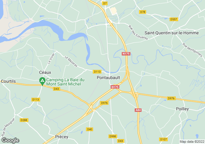 Map for pontaubault, Manche, France