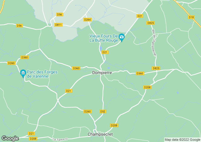 Map for dompierre, Orne, France