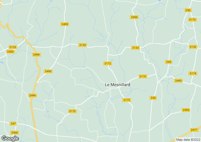 Map for Normandy, Manche, Le Mesnillard