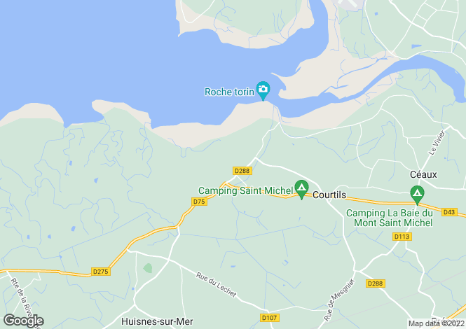 Map for COURTILS, 50220, France