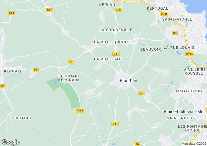 Map for PLOURHAN, Bretagne
