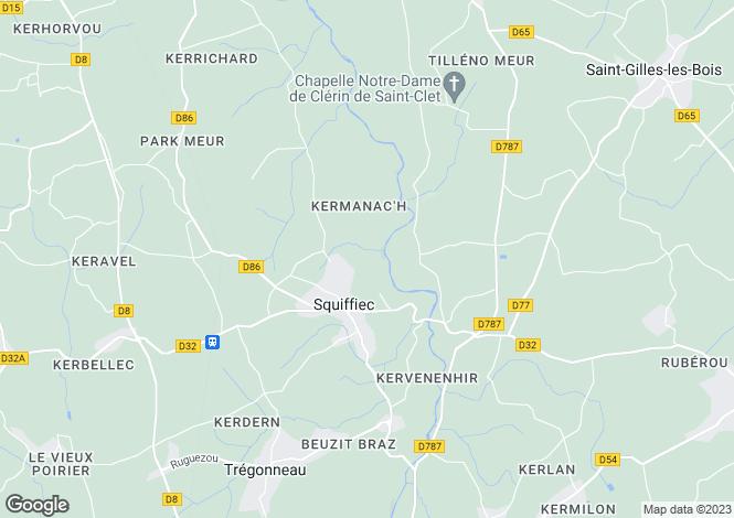 Map for squiffiec, Côtes-d'Armor, France