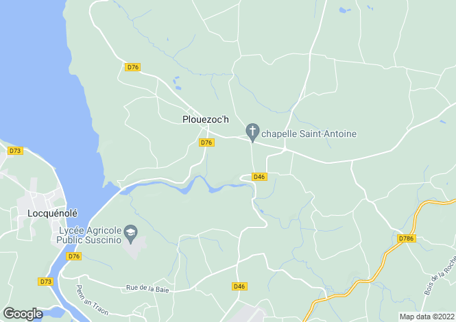 Map for Brittany, Finistère, Plouezoc`h
