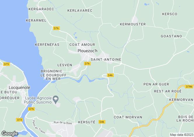 Map for plouezoch, Finistère, France