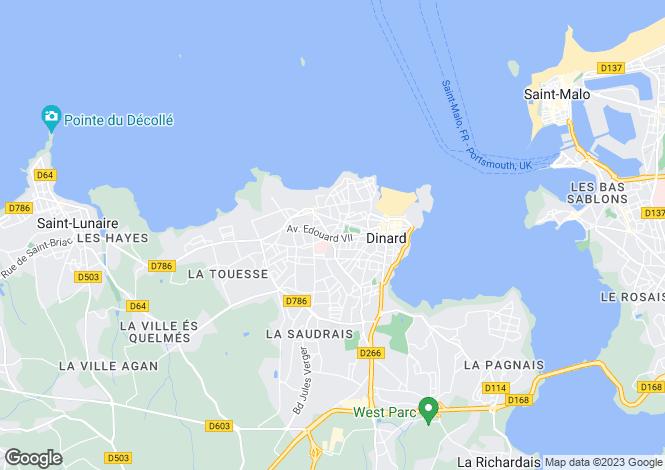 Map for DINARD, Bretagne