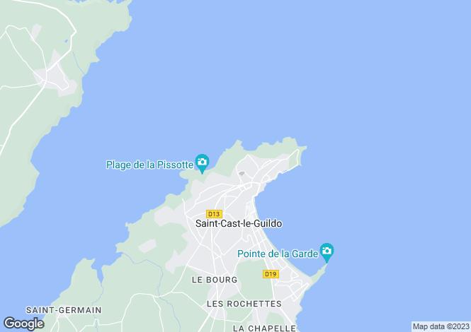 Map for SAINT CAST LE GUILDO, Bretagne