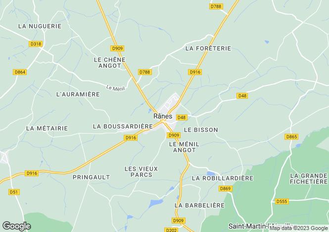 Map for ranes, Orne, France