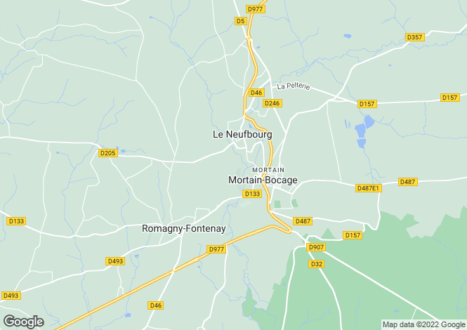 Map for 50140 LE NEUFBOURG, Manche, France