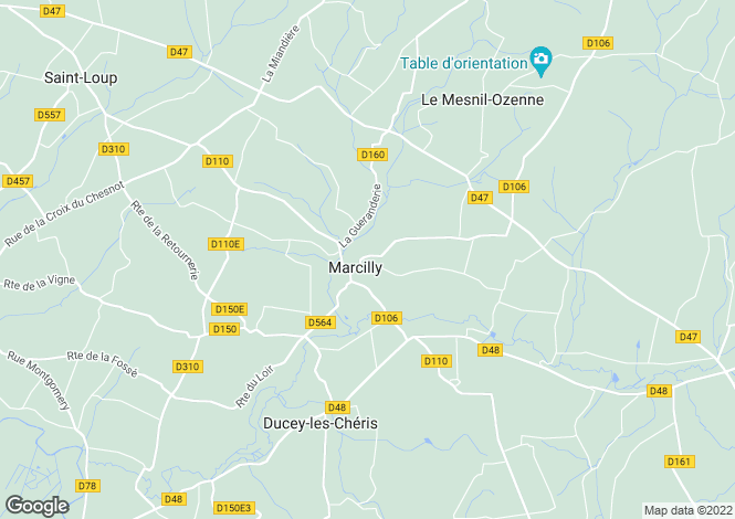 Map for marcilly, Manche, France
