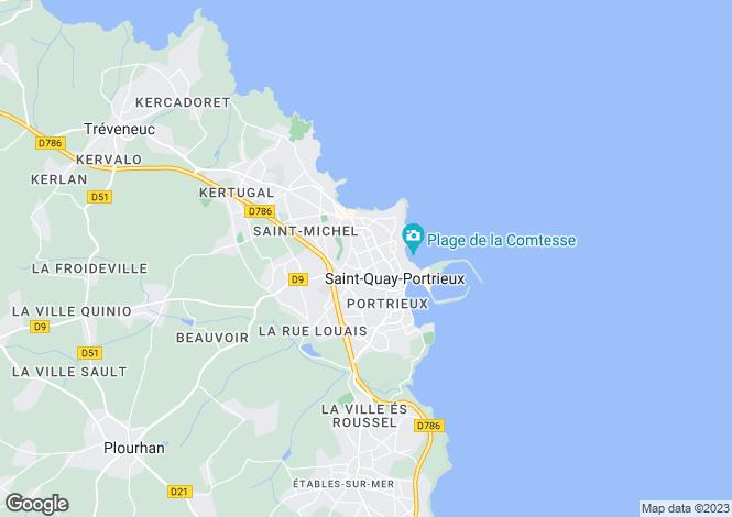 Map for SAINT QUAY PORTRIEUX, Bretagne