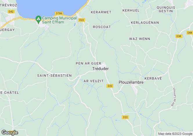 Map for TREDUDER, Bretagne