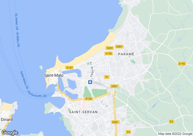 Map for SAINT MALO, Bretagne