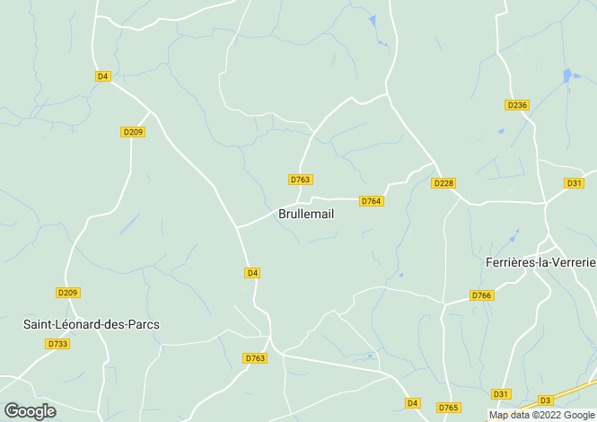 Map for Normandy, Orne, Brullemail