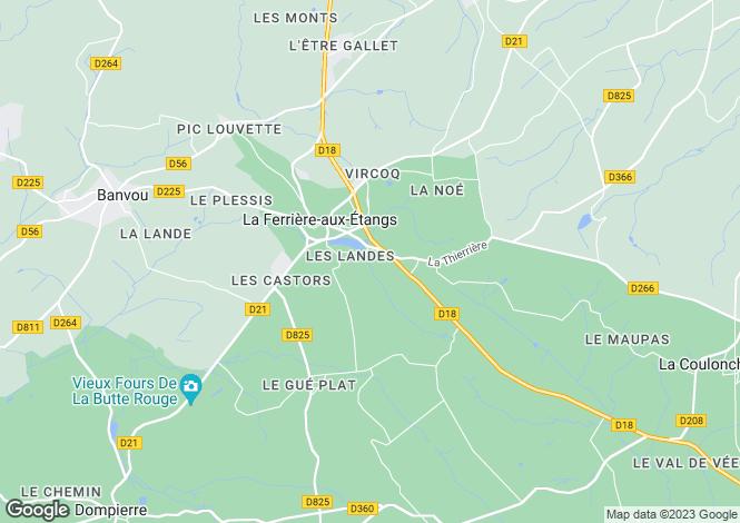 Map for la-ferriere-aux-etangs, Orne, France