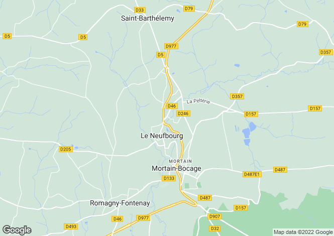 Map for Le Neufbourg, Basse-Normandie, 50140, France