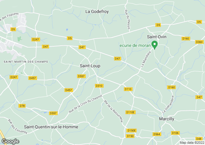 Map for Saint-Loup, Basse-Normandie, 50300, France