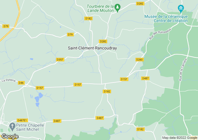 Map for Saint-Clement-Rancoudray, Manche, 50140, France