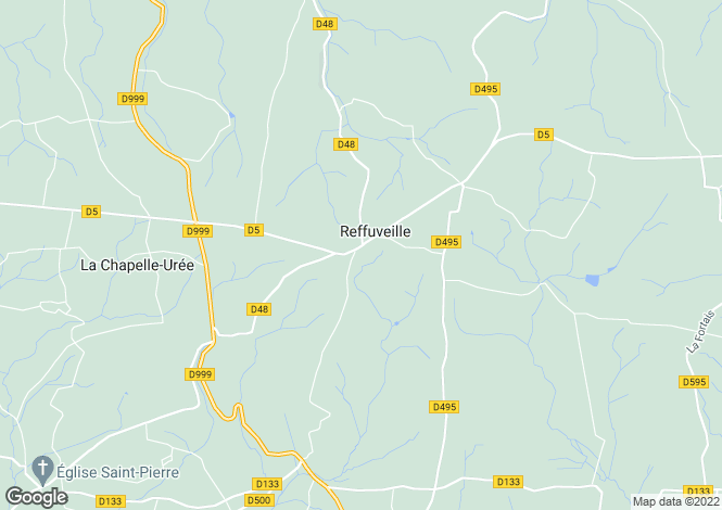 Map for Reffuveille, Manche, Normandy