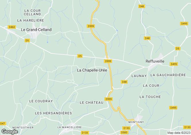Map for Normandy, Manche, La Chapelle-Urée