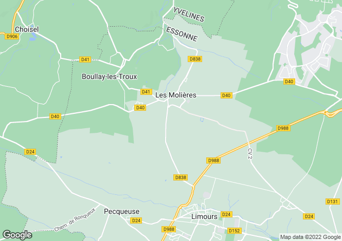 Map for les-molieres, Essonne, France
