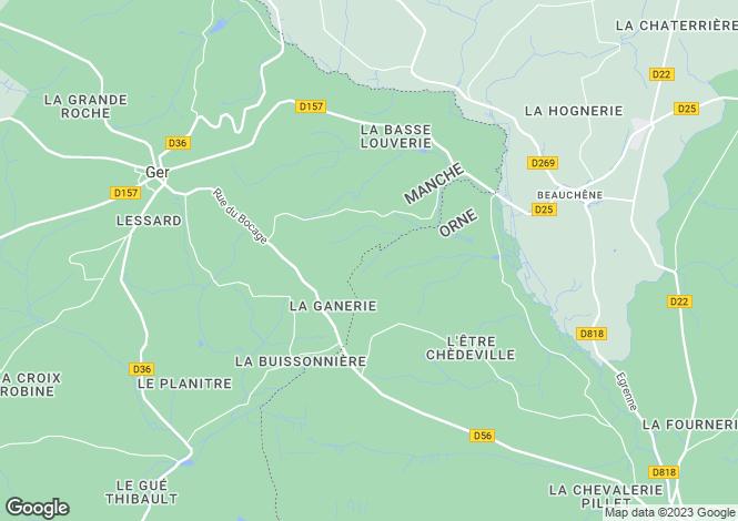 Map for Ger, Basse-Normandie, 50850, France